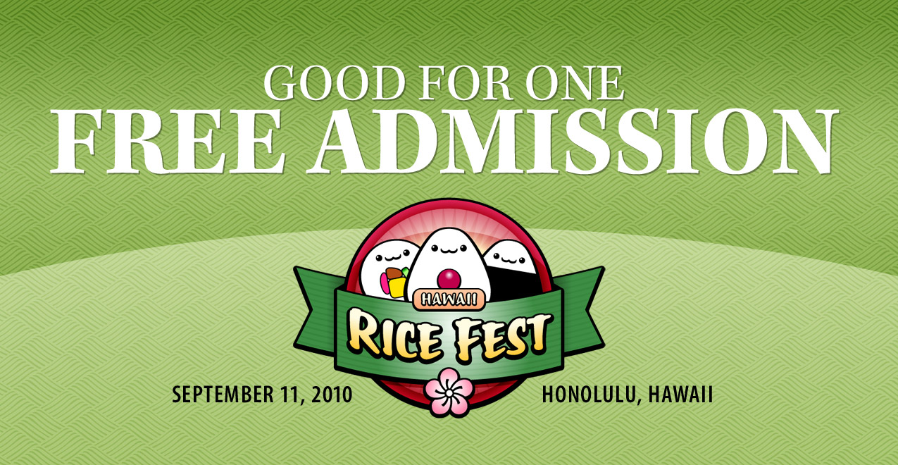Visit Us at the 1st Annual Hawaii Rice Festival!