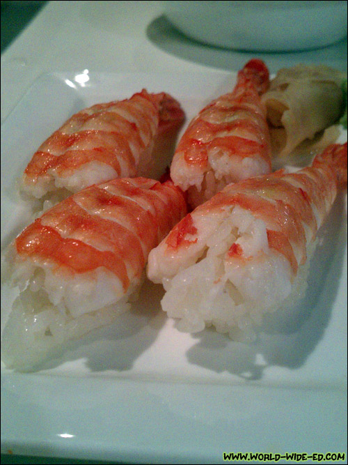 Ebi (shrimp) sushi