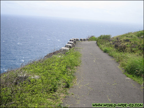 Paved path up Makapuu Trail