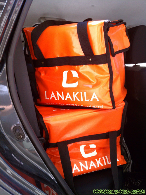 Bags from Lanakila Meals on Wheels loaded up