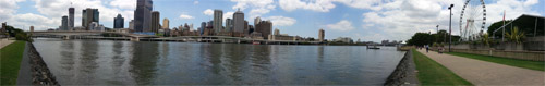 Panoramic shot of the Brisbane River