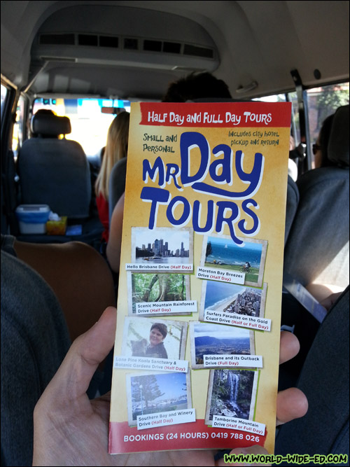 Mr Day Tours brochure