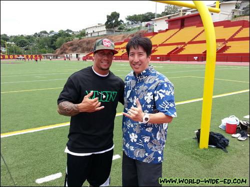 Chad Owens with Edward Sugimoto