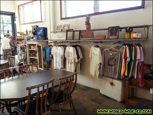 Apparel and goods at Pioneer Saloon