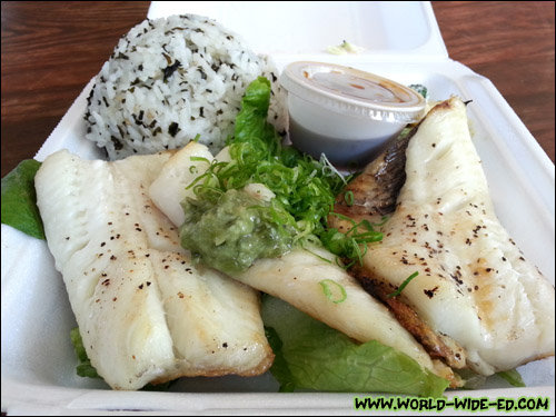 Grilled Halibut Wasabi with Ponzu - $11