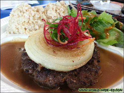 Kualoa Ranch Homemade 7 oz. Hamburger Steak ($9.50)
