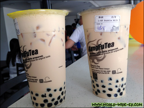 Bubble Tea from Kung Fu Tea
