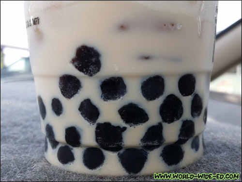 Choke Bubbles at the bottom of Kung Fu Tea's drinks!