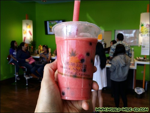 Strawberry/Banana Fresh Fruit Bubble Drink
