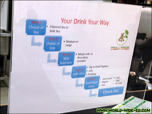 How to order your bubble drink at Tea Time