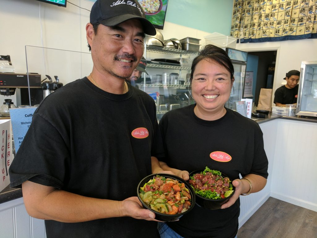 Aloha Poke Shop proprietors Jason & Michele Miyanaga
