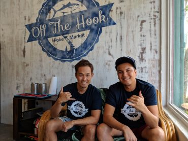 Tomoki Ito and JP Lam, partners in Off the Hook Poke Market in Manoa Valley